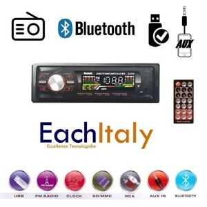 STEREO-AUTO-BLUETOOTH-AUTORADIO-VIVAVOCE-RADIO-FM-MP3-USB-AUX-SD-CARD-250w-1din
