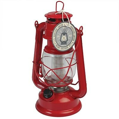 dotcomgiftshop RED LED BATTERY POWERED HURRICANE LAMP