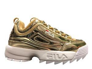 Dettagli su Fila Disruptor - Scarpe Uomo Donna Oro Gold Sneakers