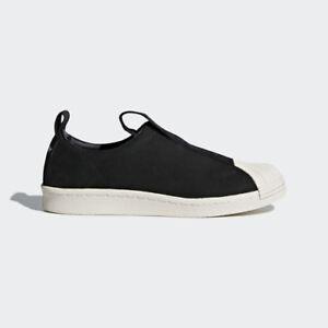 frauen adidas cq2517 superstar kg ausrutscher auf casual schuhen schwarz - weiß