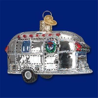 N Glass Ornament w// OWC Box 46053 Old World Christmas VINTAGE TRAILER