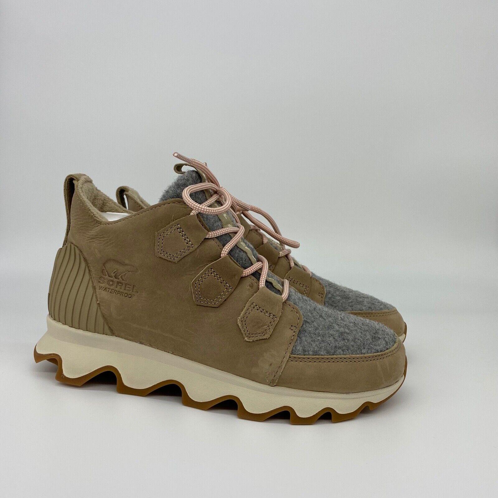 Sorel Kinetic Caribou Boots Sneakers Sandy Tan NEW Women's Sorel Boots