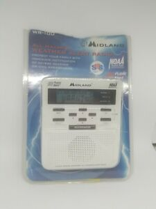 Midland Emergency Weather Alert Radio w/ Alarm Clock NOAA Trilingual WR-100 ~