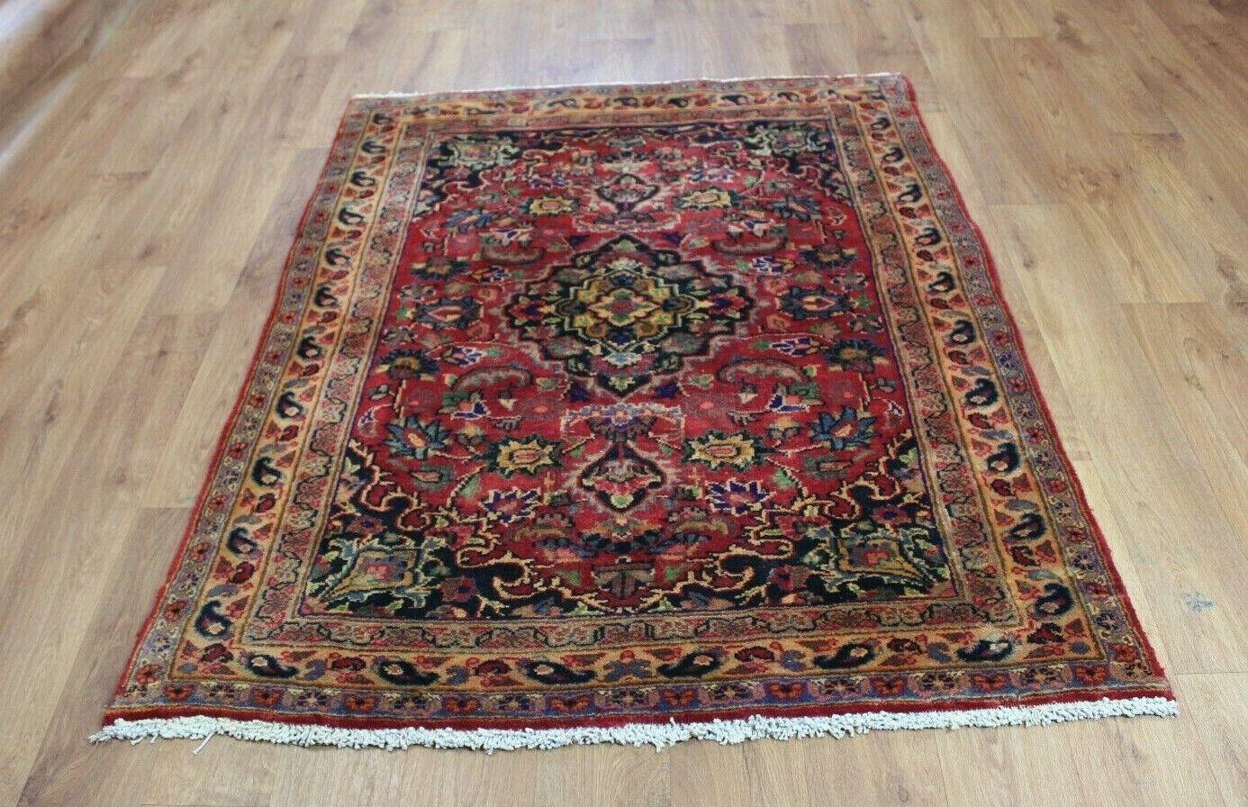 Traditional Vintage Wool Handmade Classic Oriental Area Rug Carpet Carpet Carpet 155X 116 cm c1c15c
