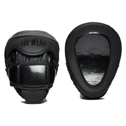 Black//Black Tuf-Wear Atom Curved Gel Hook and Jab Pad