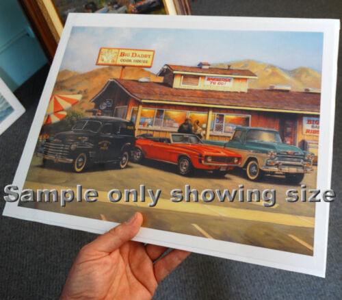 "Drag Racing action prints /""Tri-Five Nat/'ls/"""