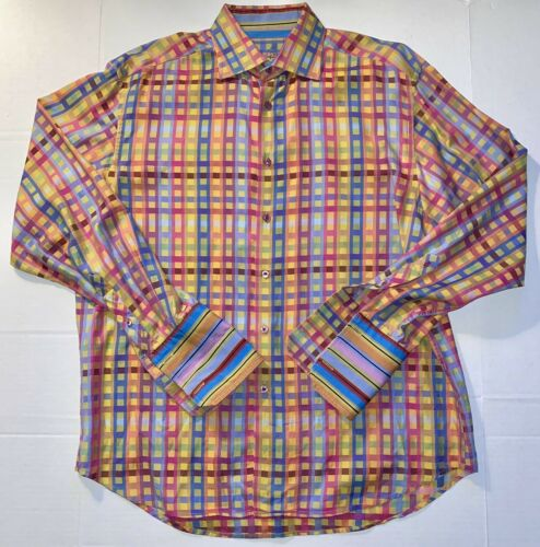 Men's Robert Graham Multicolored Striped Blocks Lo