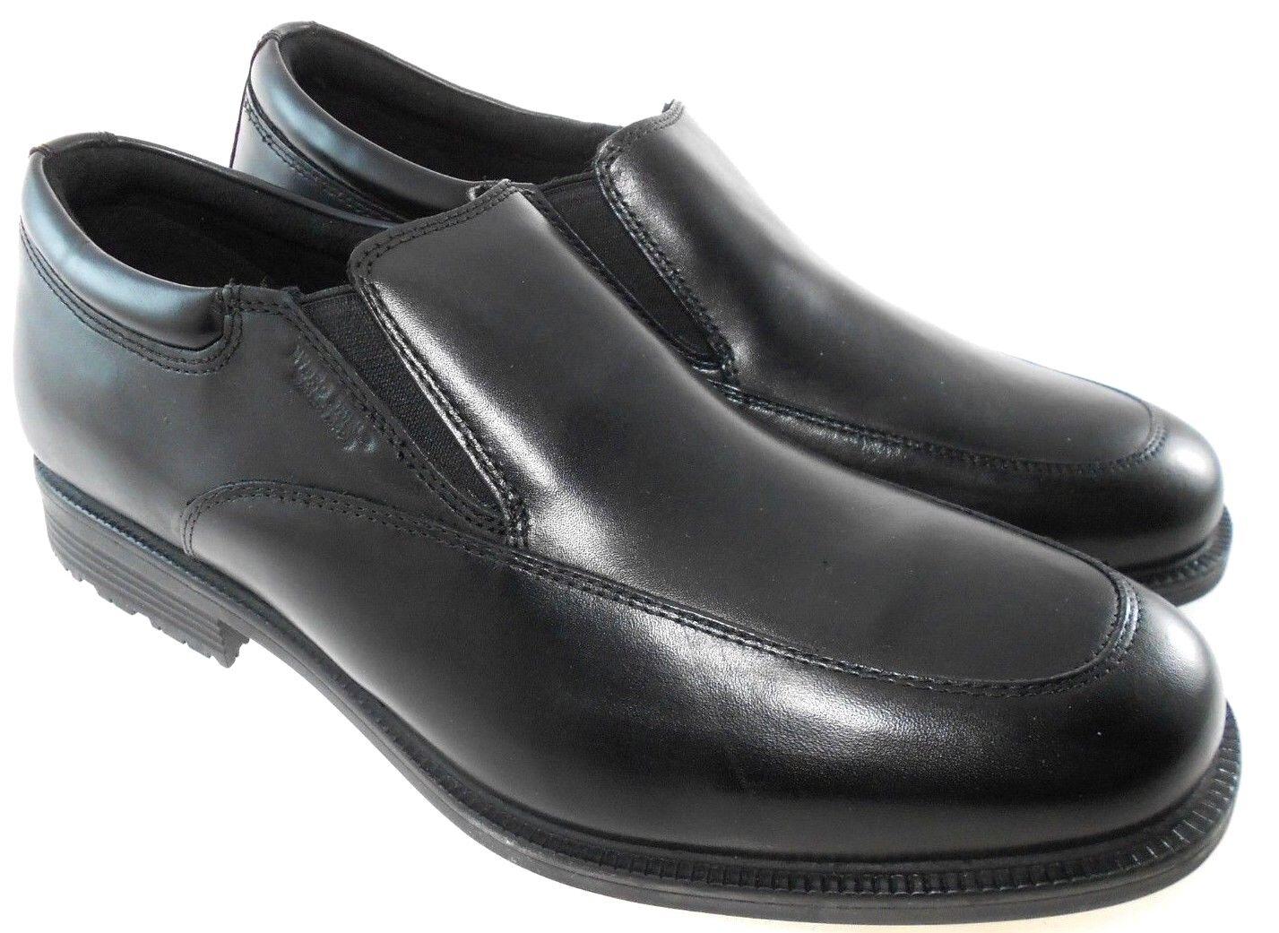 ROCKPORT SLIP ESSENTIAL DETAILS MEN'S BLACK WATERPROOF SLIP ROCKPORT ON Schuhe WIDE(W), V75100 8aba7f