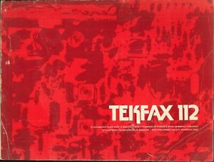 Details about Tekfax 112 TV Schematics 1975 Electronic Technician Magnavox  RCA Motorola Zenith