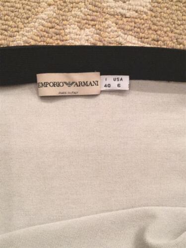 Stripe Armani 40 creme rok Emporio en maat zwart lichtgrijs CP5xx7Owq
