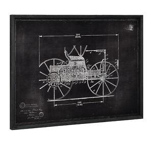 art.work] Wandbild 60x80cm Altes Auto Skizze Technische Zeichnung ...