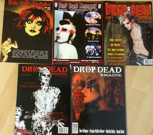 ALL-5-DROP-DEAD-MAGAZINE-s-LOT-Deathrock-Goth-Wave-Psychobilly-Electro-Post-PUNK