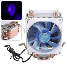 LED Dual CPU Cooling Cooler Fan Heatsink for AMD AM2/2+ AM3 Intel LGA 1156 775