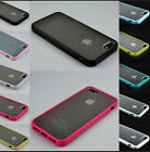 TPU Bumper Frame + Matte Hard Back Case Cover Skin For Apple iPhone 4 4S 5 5S