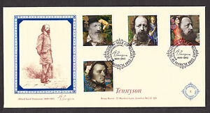 1992-TENNYSON-SET-OF-4-ON-BRIAN-REEVE-OFFICIAL-FDC
