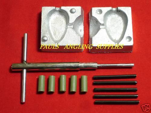 Carp Fishing Inline lead Mould Kit Flat Pear  2 oz