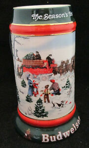Anheuser-Busch-Budweiser-The-Season-039-s-Best-Stein-Collector-Series-1991