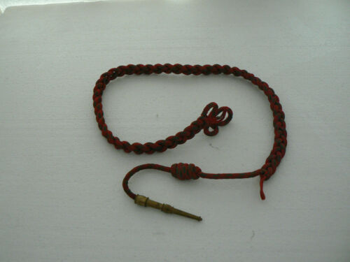 ANTIQUE FOURAGERE RED GREEN MILITARY GUERRE NEW D/' PERIOD 14-18 CROSS