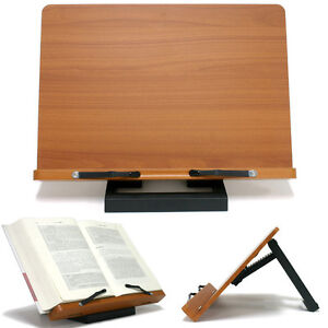 book stand portable wood reading desk cook book rest adjustable rh ebay com book stand for desk staples book stand for desk diy