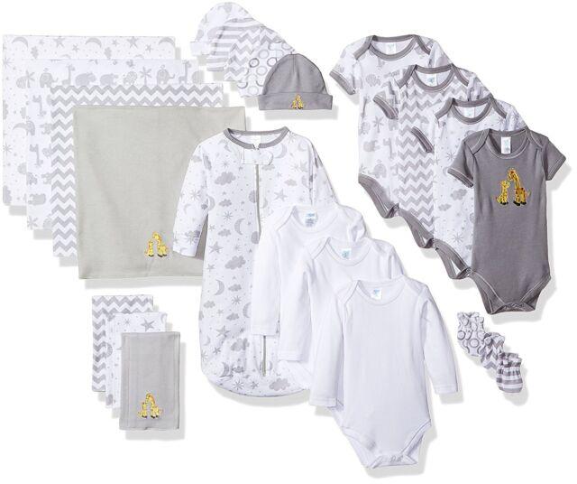 867f6228c04e Spasilk Essential Newborn Baby Layette 23 PC Set Grey Celestial 0-6 ...