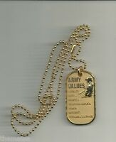 ARMY VALUES ENGRAVABLE METAL MILITARY  DOG TAG