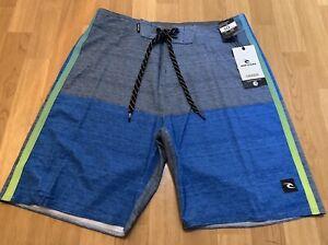 5a8fe638c2 Mens size 30 Blue Block RIP CURL Mirage Board Shorts *BNWT* | eBay