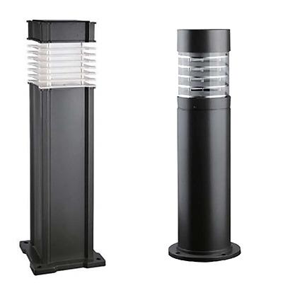 Toki Black Aluminium Outdoor Garden Post Light Takes E27 Bulb