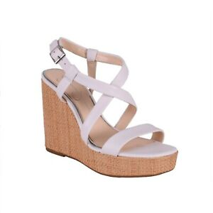Women-039-s-Jessica-Simpson-SALONA-Bright-White-Wedge-Heel-Sandal-Shoes