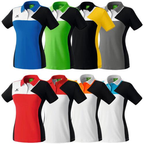 Erima Premium One Damen Team Sport Oberteil Trainings Polo-Shirt neu