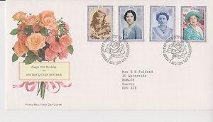 GB-Royal-Mail-FDC-Primer-Dia-Cubierta-1990-reina-madre-sello-conjunto-Westminster-PMK