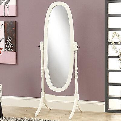New In Box Swivel Full Length Wood Cheval Floor Mirror Black/White/Oak/Cherry