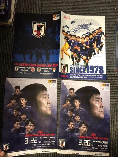 Japan Bolivia Colombia 2019 KIRIN CUP program//poster set DOAN Nakajima MINAMINO
