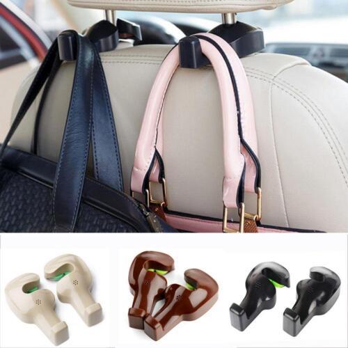 2Pcs Vehicle Car Back Seat Headrest Hanger Holder Hook For Bag Universal LE