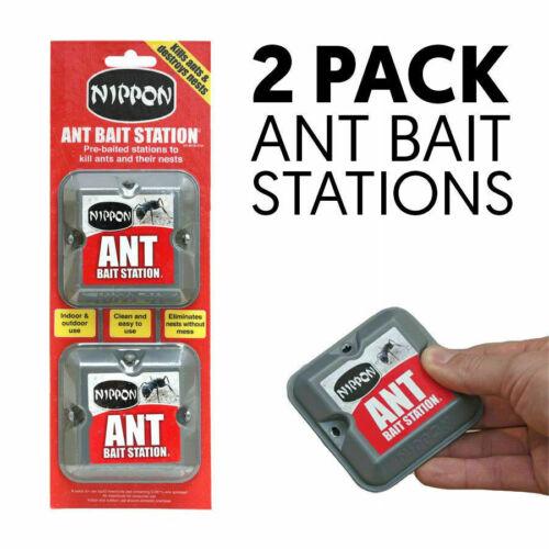 Nippon Ant Bait Station tueur nid PiègePre-Appâtés Twin Box Packen Dehors