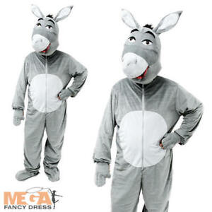 Image is loading Donkey-Fancy-Dress-Adult-Mens-Ladies-Nativity-Christmas-  sc 1 st  eBay & Donkey Fancy Dress Adult Mens Ladies Nativity Christmas Animal Shrek ...