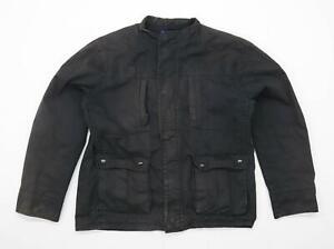 Lee-Cooper-Herren-Groesse-M-Baumwolle-schwarz-Jacke