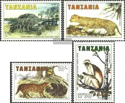 Never Hinged 1985 Animals Of Lovely Luster Tanzania 258-261 complete.issue. Unmounted Mint