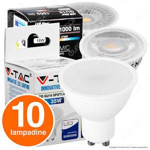 10-LAMPADINE-LED-Attacco-GU10-a-Scelta-Lampada-Faretto-Spotlight-da-3W-a-10W