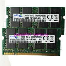New Samsung 2GB 2X1GB DDR-333MHZ PC2700 Laptop Memory 200-pin Low Density Pairs