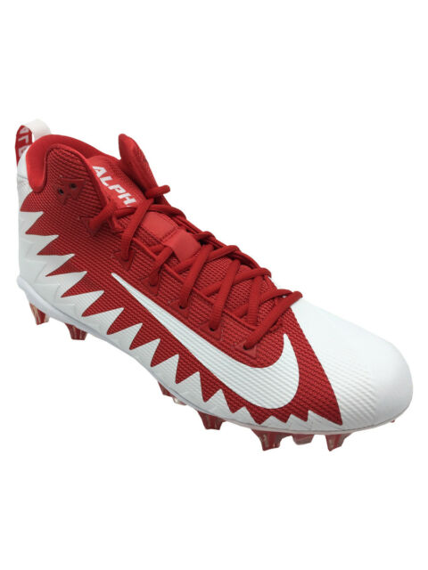 on sale f1248 f2b45 Nike Alpha Menace Pro Mid Football Cleats Red white 871451-611 Men s Size 11