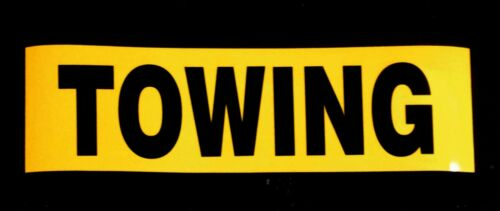 TOWING Reflective Magnetic Warning Sign