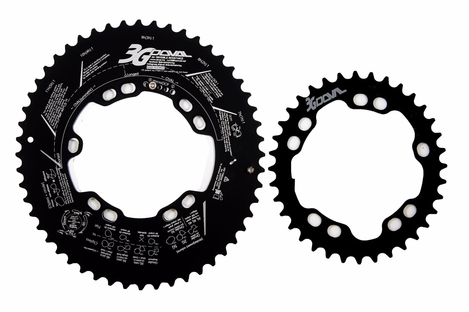 3G Doval Chainring  BCD110 for 45arm shimano/etc... (Buy 3+ Shipping discount)