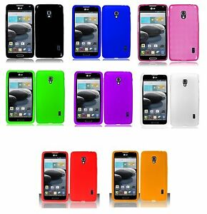 new product b10cd 97b4a Details about Rubber Silicone Case phone Cover for LG Optimus F6 D500 MS500