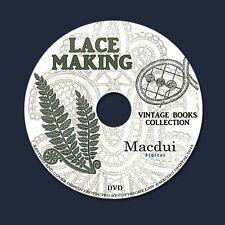 Lace Making Patterns,Honiton,Medici,Teneriffe – Vintage e-books 26 PDF on 1 DVD
