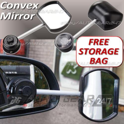 Car Van 4x4 Suck-It Suction Caravan Convex Glass Towing Extension Wing Mirror 36