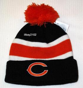 NFL Team Headwear Kids Chicago Bears Cuffed Knit Hat with Pom NEW ... 73831ab68
