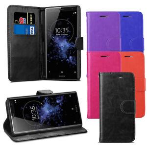 Pour-Sony-Xperia-XZ2-Case-Premium-Portefeuille-En-Cuir-Flip-Case-Cover-Protecteur