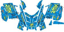POLARIS RUSH PRO RMK  ASSAULT 120 144 155 163 hood wrap kit DECAL splatter blue