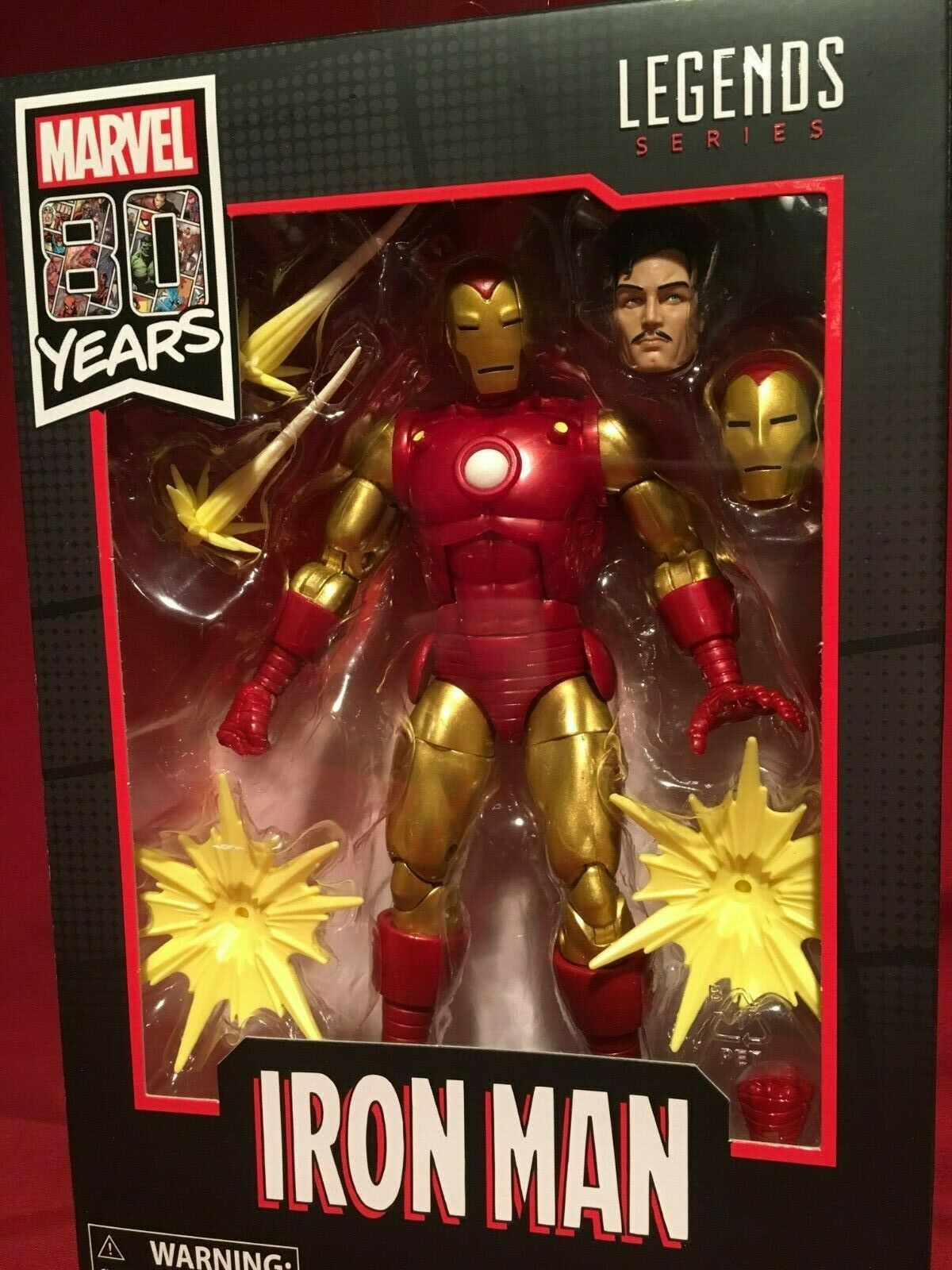 Marvel Legends 80 YEARS ANNIVERSARY IRON MAN   TONY STARK FIGURE IN HAND