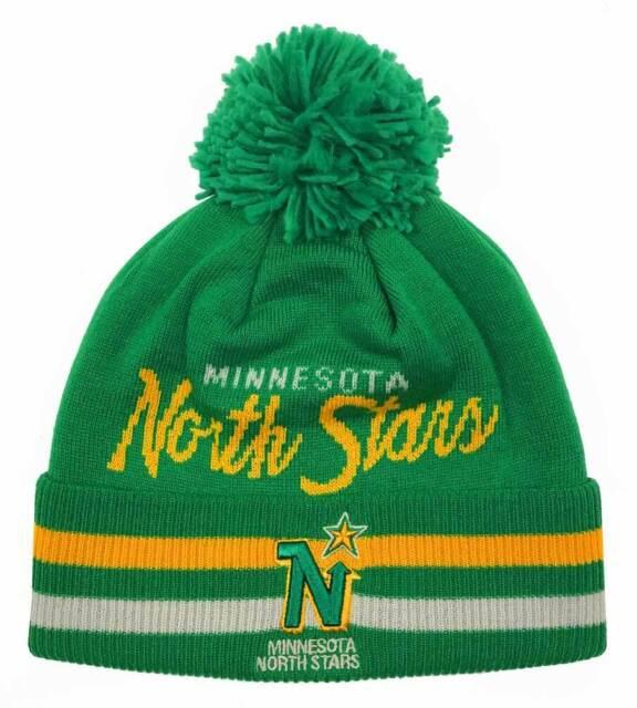 076f2bb280d Minnesota North Stars adidas NHL Knit Hat Beanie Stocking Cap Vintage  Hockey Pom